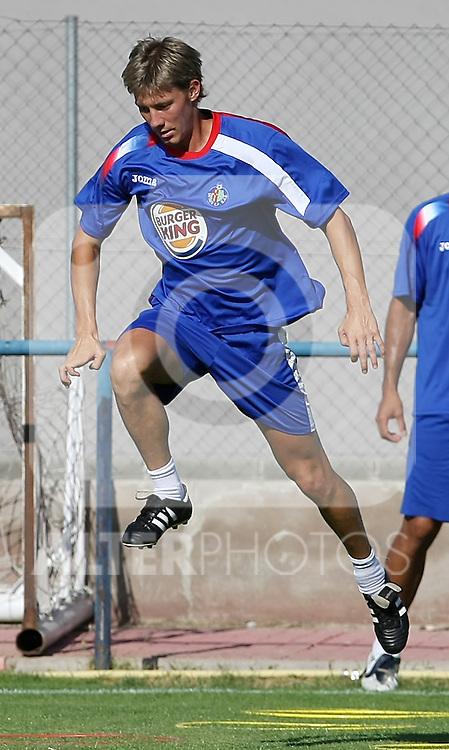Getafe's Franck Signorino during training sesion.August 6 2009. (ALTERPHOTOS/Acero).