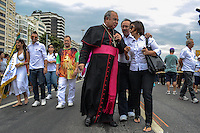 RIO DE JANEIRO, RJ, 05 AGOSTO 2012 -CIRIO DE NAZARE- Don Orani Tempesta participa do Cirio de Nazare percorrendo a orla de Copacabana neste domingo, 05 de agosto, em Copacabana,zona sul do rio.(FOTO: MARCELO FONSECA / BRAZIL PHOTO PRESS).
