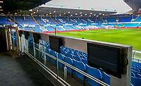 Small screens in the director's seating area at Elland Road, home of Leeds United FC<br /> <br /> Photographer Alex Dodd/CameraSport<br /> <br /> The EFL Sky Bet Championship - Leeds United v Blackburn Rovers - Wednesday 26th December 2018 - Elland Road - Leeds<br /> <br /> World Copyright © 2018 CameraSport. All rights reserved. 43 Linden Ave. Countesthorpe. Leicester. England. LE8 5PG - Tel: +44 (0) 116 277 4147 - admin@camerasport.com - www.camerasport.com