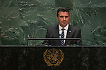 General Assembly Seventy-fourth session, 7th plenary meeting<br /> <br /> <br /> His Excellency Zoran Zaev, President of the Government, Republic of North<br /> Macedonia