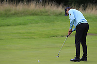 Victor Perez (FRA) putts on the 1st green during Sunday's Final Round of the Northern Ireland Open 2018 presented by Modest Golf held at Galgorm Castle Golf Club, Ballymena, Northern Ireland. 19th August 2018.<br /> Picture: Eoin Clarke | Golffile<br /> <br /> <br /> All photos usage must carry mandatory copyright credit (&copy; Golffile | Eoin Clarke)