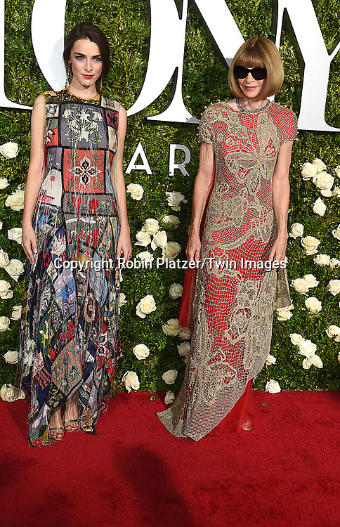Bee Shaffer and mom Anna Wintour attend the 71st Annual  Tony Awards on June 11, 2017 at Radio City Music Hall in New York, New York, USA.<br /> <br /> photo by Robin Platzer/Twin Images<br />  <br /> phone number 212-935-0770