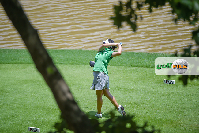 Jane Park (USA) watches her tee shot on 10 during round 3 of the U.S. Women's Open Championship, Shoal Creek Country Club, at Birmingham, Alabama, USA. 6/2/2018.<br /> Picture: Golffile | Ken Murray<br /> <br /> All photo usage must carry mandatory copyright credit (© Golffile | Ken Murray)