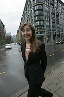 Montreal (Qc) Canada - file Photo -France-Margaret belanger. a partner of the MontrÈal office of Stikeman Elliott and practices mainly in the areas of mergers and acquisitions of public