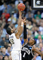Brad Wanamaker of the Panthers shoots over Bulldog's Shelvin Mack. Butler upset no.1 seed Pittsburgh 71-70 during the 3rd round of the NCAA Tournament at the Verizon Center in Washington, D.C on Saturday, March 19, 2011. Alan P. Santos/DC Sports Box