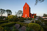 The red church near Raervig and Shelland Odds, Denmark.