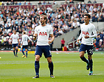 Tottenham's Harry Kane celebrates scoring his sides second goal during the premier league match at the London Stadium, London. Picture date 23rd September 2017. Picture credit should read: David Klein/Sportimage