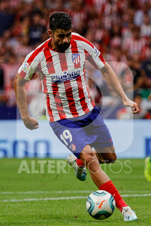 Diego Costa of Atletico de Madrid in action during La Liga match between Atletico de Madrid and SD Eibar at Wanda Metropolitano Stadium in Madrid, Spain.September 01, 2019. (ALTERPHOTOS/A. Perez Meca)