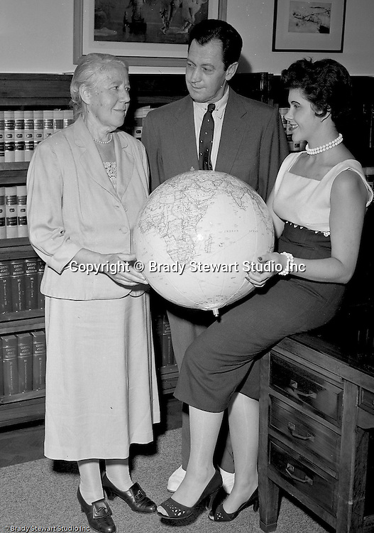 Pittsburgh PA:  Public Relations photographs at the World Federalist's offices in the City County Building.  The World Federalists were a worldwide organization that believed in a one-world government with the objective of stopping World Wars.