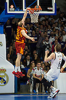 Real Madrid´s Andres Nocioni and Galatasaray´s Guler during 2014-15 Euroleague Basketball match between Real Madrid and Galatasaray at Palacio de los Deportes stadium in Madrid, Spain. January 08, 2015. (ALTERPHOTOS/Luis Fernandez) /NortePhoto /NortePhoto.com