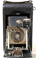 Old kodak folding bellows camera.