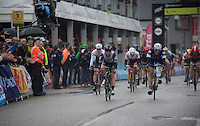 Marcel Kittel (DEU/Etixx-Quickstep) beats Mark Cavendish (GBR/DimensionData) with half a wheel to take his (record) 4th ever win in the Scheldeprijs<br /> <br /> 104th Scheldeprijs 2016