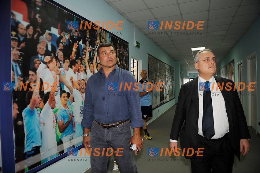 Angelo Peruzzi, Claudio Lotito<br /> 26-07-2016 Roma<br /> Allenamento Lazio a Formello<br /> SS Lazio traning day<br /> @ Marco Rosi / Fotonotizia / Insidefoto