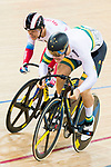 Matthew Glaetzer of the Australia team and Pavel Yakushevskiy of the Russia team compete in the Men's Sprint - 1/8 Finals as part of the Men's Sprint - 1/8 Finals as part of the 2017 UCI Track Cycling World Championships on 14 April 2017, in Hong Kong Velodrome, Hong Kong, China. Photo by Marcio Rodrigo Machado / Power Sport Images
