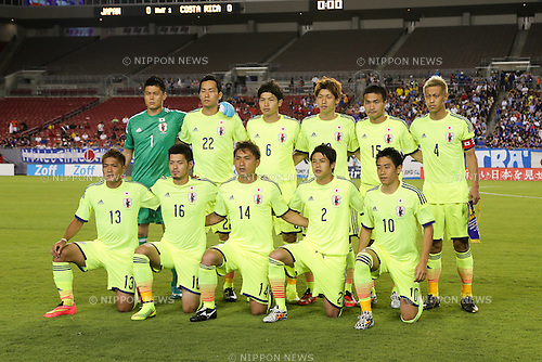 Japan team group line-up (JPN),<br /> JUNE 2, 2014 - Football / Soccer : International friendly match between Costa Rica 1-3 Japan at Raymond James Stadium in Tampa, Florida, United States.<br /> (Photo by AFLO)