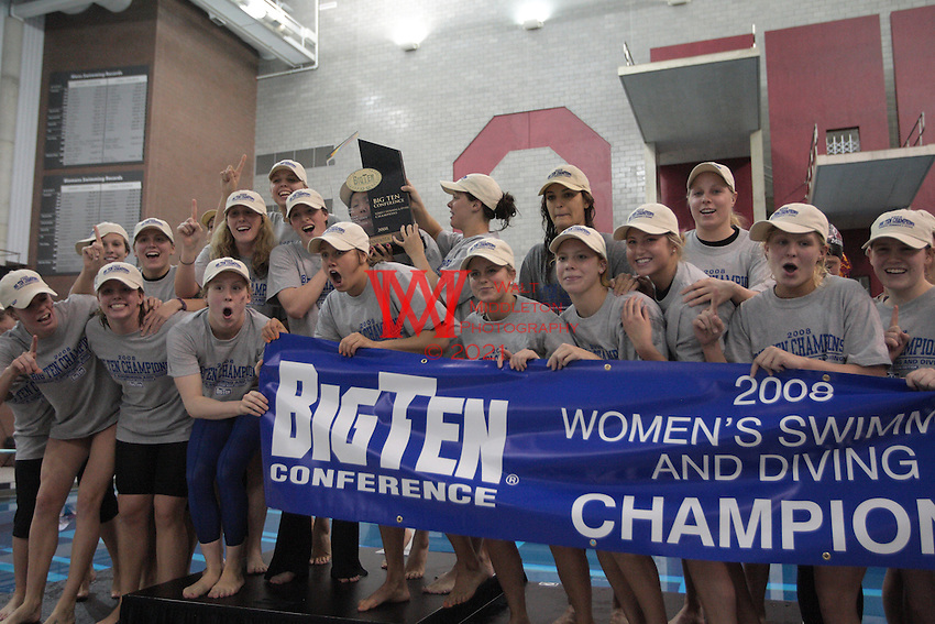 The Women's 2008 Big Ten Swimming and Diving Champions are... The University of Minnesota.