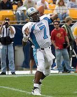 23 September 2006: The Citadel quarterback Duran Lawson..The Pitt Panthers beat The Citadel Bulldogs 51-6 on September 23, 2006 at Heinz Field, Pittsburgh, Pennsylvania.