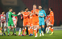 Blackpool's Chris Taylor at the end of day match<br /> <br /> <br /> Photographer Rachel Holborn/CameraSport<br /> <br /> The EFL Sky Bet League One - Doncaster Rovers v Blackpool - Tuesday 27th November 2018 - Keepmoat Stadium - Doncaster<br /> <br /> World Copyright &copy; 2018 CameraSport. All rights reserved. 43 Linden Ave. Countesthorpe. Leicester. England. LE8 5PG - Tel: +44 (0) 116 277 4147 - admin@camerasport.com - www.camerasport.com