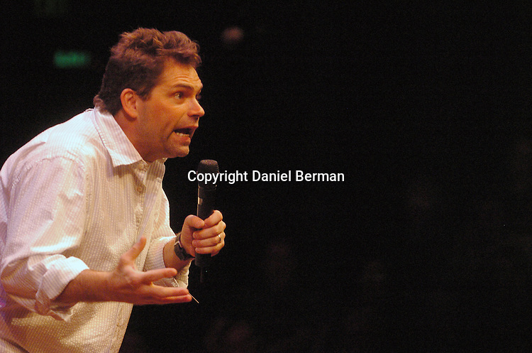 Comedian Dana Gould performs at the Bumbershoot music festival in Seattle, WA September 3, 2006.