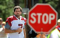 Jul 31, 2009; Flagstaff, AZ, USA; Arizona Cardinals quarterback Matt Leinart during training camp on the campus of Northern Arizona University. Mandatory Credit: Mark J. Rebilas-