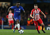 5th December 2017, Stamford Bridge, London, England; UEFA Champions League football, Chelsea versus Atletico Madrid; Victor Moses of Chelsea runs past Koke of Atletico Madrid