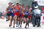 (L to R) <br />  Hiroto Inoue, <br /> Hayato Sonoda (JPN), <br /> AUGUST 25, 2018 - Athletics - Marathon : <br /> Men's Marathon <br /> at Marathon Course <br /> during the 2018 Jakarta Palembang Asian Games <br /> in Jakarta, Indonesia. <br /> (Photo by Naoki Morita/AFLO SPORT)