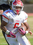 Palos Verdes, CA 10/21/16 - Markeece Alexander (Redondo Union #6) in action during the CIF Southern Section Bay League Redondo Union - Palos Verdes Peninsula game at Peninsula High School.