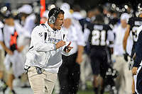 1 September 2011:  FIU Defensive Coordinator Todd Orlando fires up his defense in the first half as the FIU Golden Panthers defeated the University of North Texas, 41-16, at FIU Stadium in Miami, Florida.