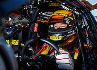 Sep 4, 2016; Clermont, IN, USA; NHRA pro stock driver Jeg Coughlin Jr during qualifying for the US Nationals at Lucas Oil Raceway. Mandatory Credit: Mark J. Rebilas-USA TODAY Sports