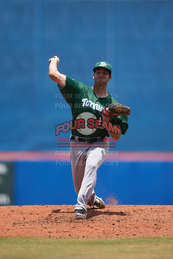 Daytona Tortugas pitcher Aaron Fossas (15) during a Florida State League game against the St. Lucie Mets on August 11, 2019 at First Data Field in St. Lucie, Florida.  Daytona defeated St. Lucie 7-4.  (Mike Janes/Four Seam Images)