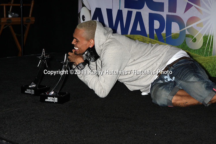 LOS ANGELES - JUN 26:  Chris Brown in the Press Room at the 11th Annual BET Awards at Shrine Auditorium on June 26, 2004 in Los Angeles, CA