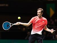 Rotterdam, The Netherlands, 13 Februari 2019, ABNAMRO World Tennis Tournament, Ahoy,  first round singles: Daniil Medvedev (RUS)<br /> Photo: www.tennisimages.com/Henk Koster