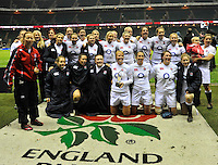 Rugby Union. Twickenham, England. England Women winners of the Autumn Internationals against  Black Ferns during the international match between England and New Zealand Black Ferns at Twickenham Stadium on December 01, 2012 in Twickenham, England.