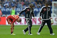 FUSSBALL   1. BUNDESLIGA  SAISON 2012/2013   4. Spieltag FC Schalke 04 - FC Bayern Muenchen      22.09.2012 Arjen Robben (FC Bayern Muenchen) verletzt
