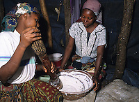 Women cooking food