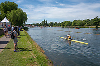 "Henley on Thames, United Kingdom, 23rd June 2018, Saturday,   ""Henley Women's Regatta"",  view, Henley Reach, River Thames, England, © Peter SPURRIER/Alamy Live News"
