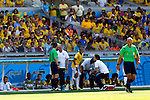 Neymar (BRA),<br /> JUNE 28, 2014 - Football / Soccer :<br /> Neymar of Brazil receives medical treatment during the FIFA World Cup Brazil 2014 Round of 16 match between Brazil 1(3-2)1 Chile at Estadio Mineirao in Belo Horizonte, Brazil. (Photo by D.Nakashima/AFLO)