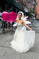 New York, NY- Gay Pride Parade in the West VIllage - Marriage Fairy for Marriage Equality