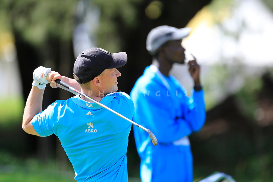 Simon Forsstr&ouml;m (SWE) during the third round of the Barclays Kenya Open played at Muthaiga Golf Club, Nairobi, Kenya 22nd - 25th March 2018 (Picture Credit / Phil Inglis) 22/03/2018<br /> <br /> <br /> All photo usage must carry mandatory copyright credit (&copy; Golffile | Phil Inglis)