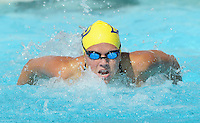 26 January 2008: Florida International's Lindsey Overman competes in the 100 yard butterfly during the swim meet against the University of Miami at the Norman Whitten Student Union Pool in Coral Gables, Florida.
