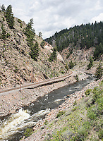 The Colorado River flows through Byers Canyon, Colorado, Monday, June 30, 2015. <br /> <br /> Photo by Matt Nager