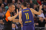 Turkish Airlines Euroleague 2017/2018.<br /> Regular Season - Round 23.<br /> FC Barcelona Lassa vs R. Madrid: 74-101.<br /> Juan Carlos Navarro.