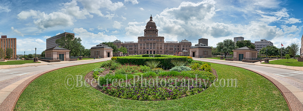 View from the Capitol lawn of the Texas State Capital in Austin. We loved the colorful garden and this perspective of the Capitol in downtown Austin.  This is one of the top destination for tourist to come when they visit.