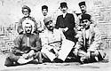 Iran 1935? .Sitting, left, Qazi Mohammed in Mahabad.Iran 1935?.Assis, a gauche, Qazi Mohammed a Mahabad
