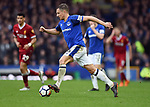 Phil Jagielka of Everton during the premier league match at Goodison Park Stadium, Liverpool. Picture date 7th April 2018. Picture credit should read: Robin Parker/Sportimage