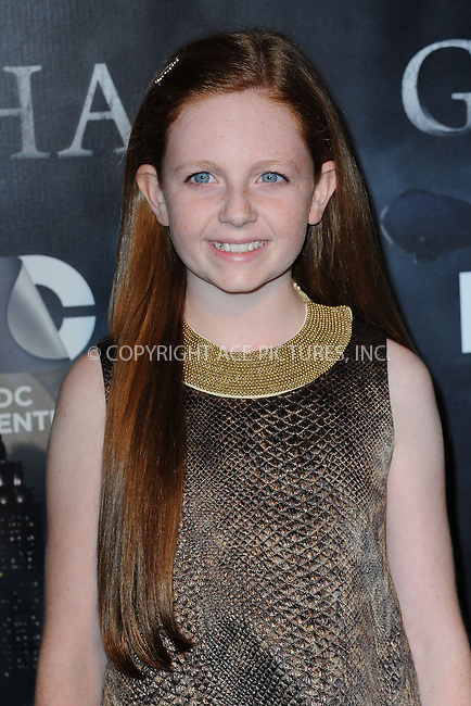 WWW.ACEPIXS.COM<br /> September 15, 2014 New York City<br /> <br /> Clare Foley attending the 'Gotham' Series Premiere at The New York Public Library onSeptember 15, 2014 in New York City.<br /> <br /> Please byline: Kristin Callahan/AcePictures<br /> <br /> ACEPIXS.COM<br /> <br /> Tel: (212) 243 8787 or (646) 769 0430<br /> e-mail: info@acepixs.com<br /> web: http://www.acepixs.com