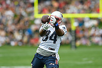 July 24, 2014 - Foxborough, Massachusetts, U.S.- New England Patriots running back Shane Vereen (34) keeps an eye on the ball during the New England Patriots training camp held at Gillette Stadium in Foxborough Massachusetts. Eric Canha/CSM