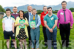 Agriculture Minister Michael Creed at the launch of the report in the Kerry Social Farming pictured with some of the participants in the initiative. <br /> front left to right Gary Foley, Mary O'Donoghue, Timothy John Paul Heffernan, and Cathal Griffin. <br /> back left to right Earl Leahy, Minister Creed, Mark Sheehan and Brendan O'Sullivan.