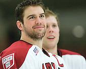 Ryan Grimshaw (Harvard - 6) - The Harvard University Crimson defeated the visiting Clarkson University Golden Knights 3-2 on Harvard's senior night on Saturday, February 25, 2012, at Bright Hockey Center in Cambridge, Massachusetts.