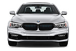 Car photography straight front view of a 2018 BMW 5 Series 530e iPerformance 4 Door Sedan